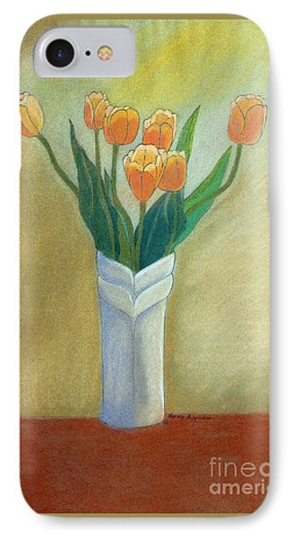 Golden Tulips IPhone Case by Norma Appleton