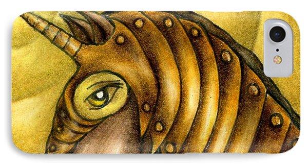 Golden Unicorn Warrior Art IPhone Case