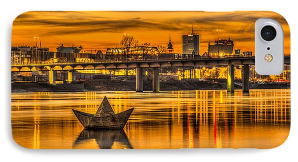 Golden Vistula IPhone Case by Julis Simo