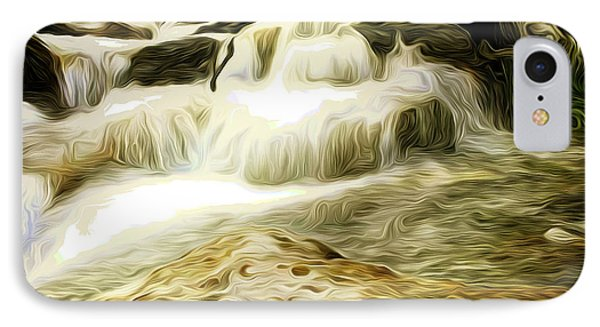 Golden Waterfall IPhone Case by Carol Crisafi
