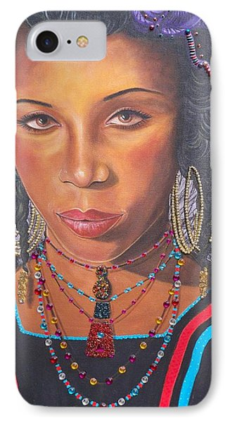 Golden Wodaabe Girl IPhone Case
