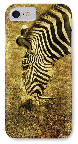 Golden Zebra  Phone Case by Saija  Lehtonen