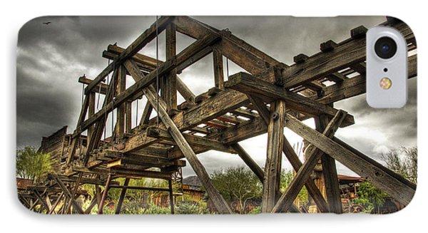 Goldfield Ghost Town - The Bridge  Phone Case by Saija  Lehtonen