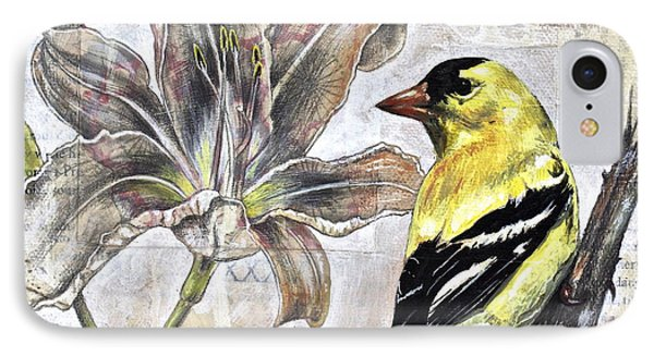 Goldfinch And Lily IPhone Case by Sheri Howe