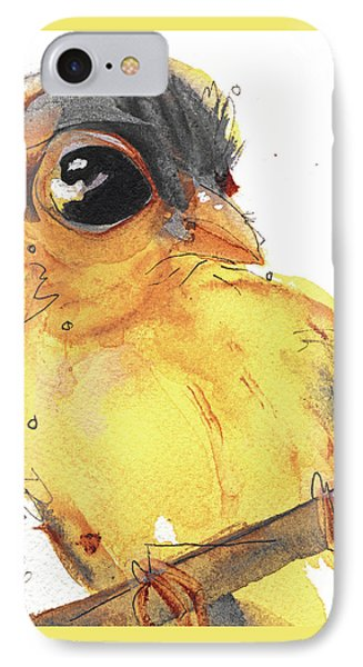 IPhone Case featuring the painting Goldfinch by Dawn Derman