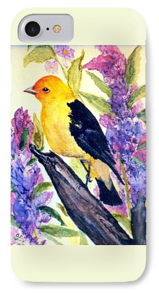 IPhone Case featuring the painting Goldfinch by Gail Kirtz