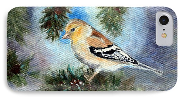 Goldfinch In A Tree IPhone Case by Brenda Thour