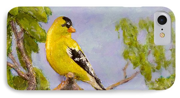 IPhone Case featuring the painting Goldfinch by Joe Bergholm