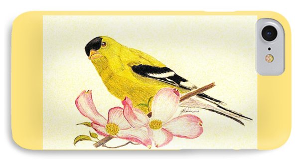 Goldfinch Spring IPhone Case by Angela Davies