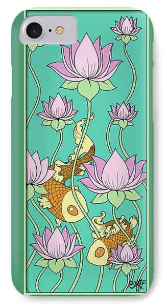 Goldfish And Lotus Phone Case by Eleanor Hofer