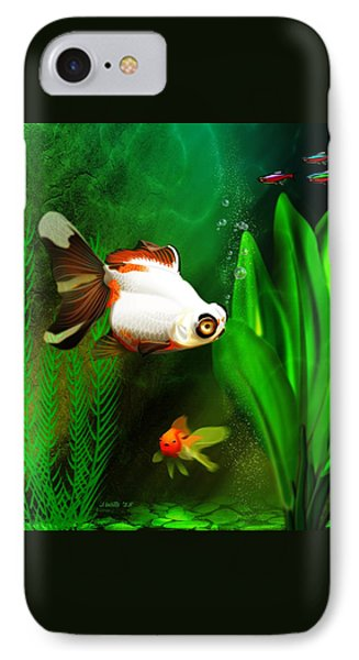 Goldfish Aquarium IPhone Case by John Wills