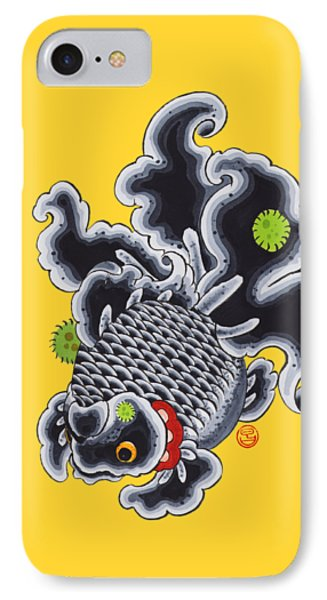 Goldfish Black IPhone Case by Shih Chang Yang