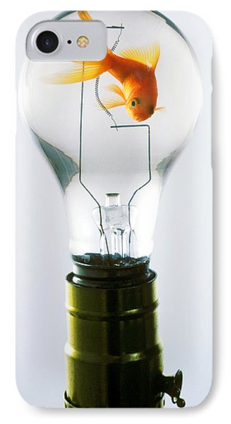 Goldfish In Light Bulb  IPhone 7 Case by Garry Gay