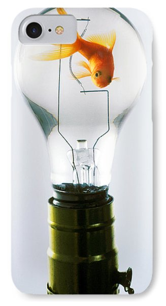 Goldfish In Light Bulb  IPhone Case
