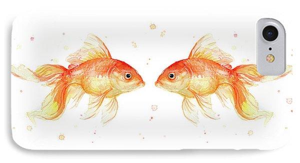 Goldfish Love Watercolor IPhone 7 Case