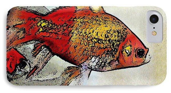 Goldfish Phone Case by Sarah Loft