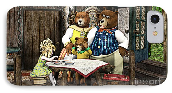Goldilocks N The 3 Bears IPhone Case by Methune Hively