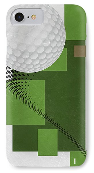 Golf Art Par 4 IPhone Case
