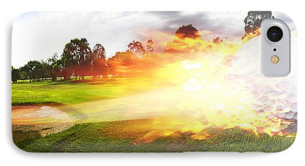 Golf Ball On Fire IPhone Case