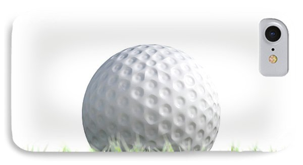 Golf Ball Resting On Grass IPhone Case by Allan Swart