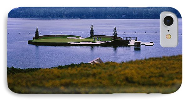 Golf Course In A Lake, Floating Golf IPhone Case by Panoramic Images