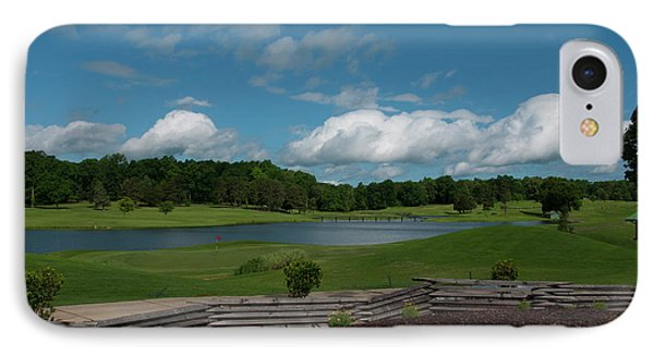 Golf Course The Back 9 IPhone Case by Chris Flees