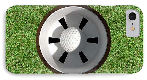 Golf Hole With Ball Inside IPhone Case