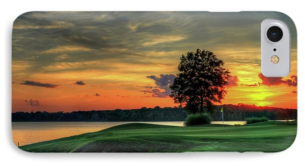 Golf Lake Oconee Reynolds Landing Art IPhone Case by Reid Callaway