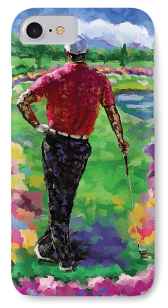 Golfer 1 IPhone Case by Tim Gilliland