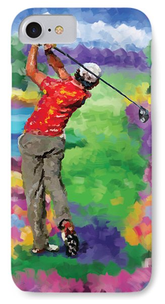 Golfer 2 IPhone Case by Tim Gilliland