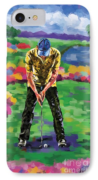 Golfer 4 IPhone Case by Tim Gilliland