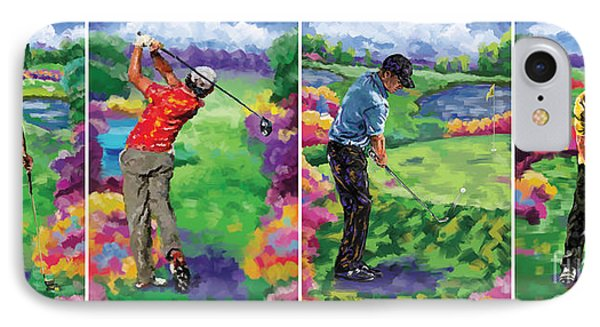 Golfer All 4 IPhone Case by Tim Gilliland