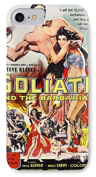 Goliath And The Barbarians 1959 IPhone Case by Mountain Dreams