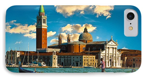 Gondola And San Giorgio Maggiore IPhone Case by Harry Spitz