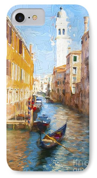 Gondola E Campanile IPhone Case by Jack Torcello