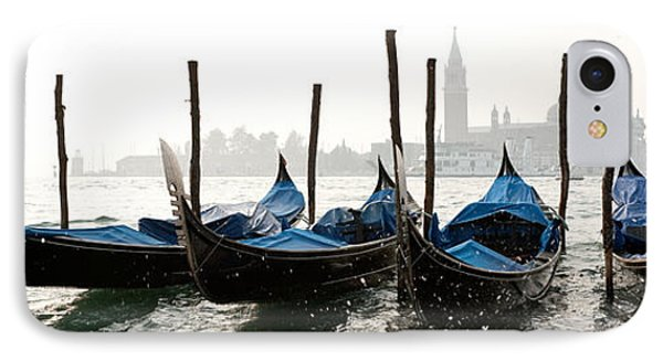 Gondole In Bacino 2078 IPhone Case by Marco Missiaja