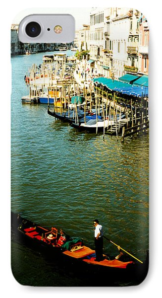 Gondola In Venice Italy Phone Case by Michelle Calkins