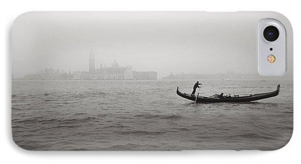 Gondola Nella Nebbia 193042x IPhone Case by Marco Missiaja