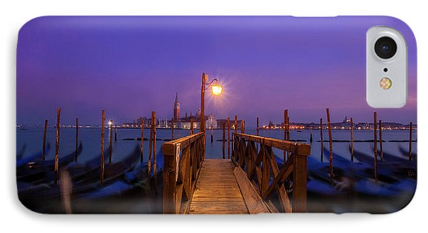 IPhone Case featuring the photograph Gondolas At Dawn by Andrew Soundarajan