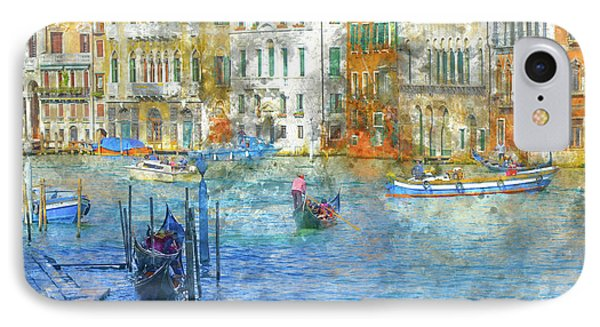 Gondolas In Scenic Venice Italy IPhone Case by Brandon Bourdages