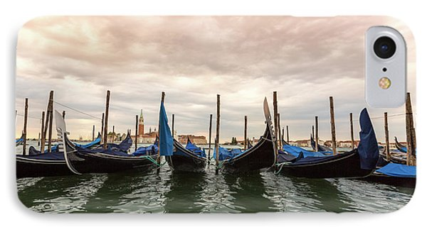 IPhone Case featuring the photograph Gondolas In Venice by Melanie Alexandra Price
