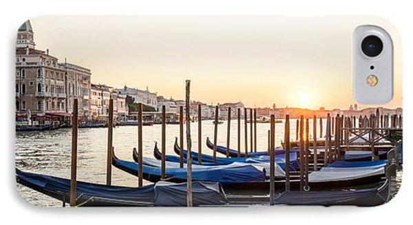 Gondolas Sunrise 00323 IPhone Case by Marco Missiaja