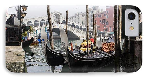 Gondole A Rialto 6948 IPhone Case by Marco Missiaja