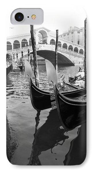 Gondole At Rialto Bridge IPhone Case by Marco Missiaja