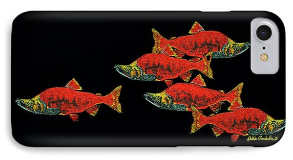 IPhone Case featuring the painting Gone Fishing by Debbie Chamberlin