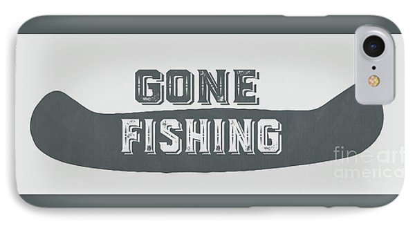 Gone Fishing Vintage Sign IPhone Case by Edward Fielding
