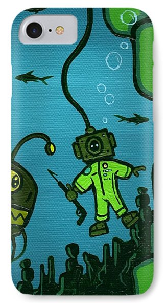 Gone Fish'n Phone Case by Dan Keough