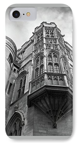 IPhone Case featuring the photograph Gonville And Caius College Library Cambridge In Black And White by Gill Billington