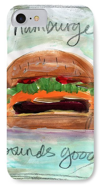 Good Burger IPhone Case by Linda Woods
