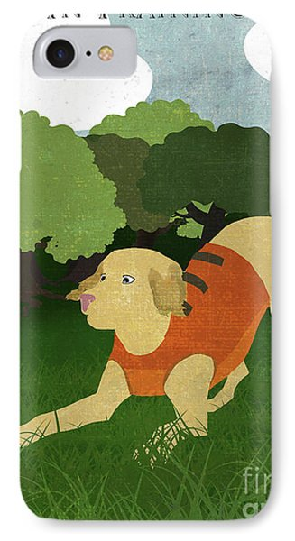 Good Dog Hunter In Training Golden Lab, Bunny Rabbit IPhone Case by Tina Lavoie
